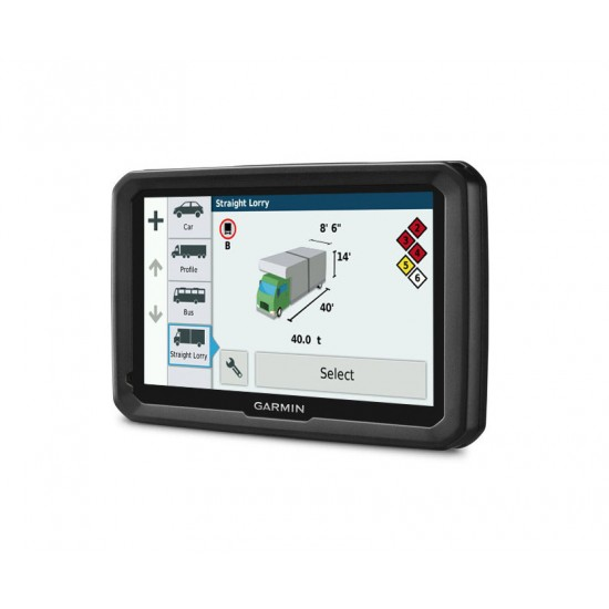 """Garmin - dezl 580 LMT-S 5"""" GPS with Built-In Bluetooth - Gray/Black"""