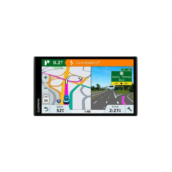 "Garmin - DriveSmart 61 LMT-S 6.95"" GPS with Built-In Bluetooth - Black"