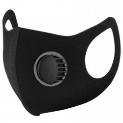 Face Mask Washable Reusable Black Filter Unisex Half Face Cover Protection